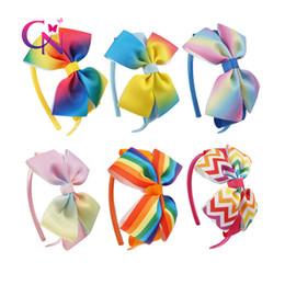 Regreso a la escuela Banda para el pelo del bebé Banda para la cabeza del niño Arco iris Ombre Pastel Diadema para niños Accesorios para el cabello desde fabricantes
