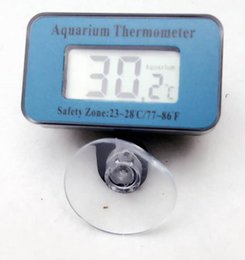 Wholesale Thermometer For Fish Tank - 100pcs by DHL FEDEX Temperature Measurement LCD Display fish Terrarium tank Thermometer Digital portable temp tester For Aquarium Freezer