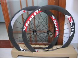 Wholesale Carbon Bike Wheel Sram Hub - powerway R36 straight pull hubs Sram s50 white decal wheels full carbon wheel 50mm rim bicycle wheelset novatec hubs A01