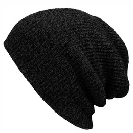8fc187f2fad88 2017 Winter Beanies Solid Color Hat Unisex Plain Warm Soft Beanie Skull  Knit Cap Hats Knitted Touca Gorro Caps For Men Women