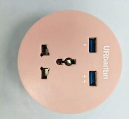 Hafen runden online-Heißer Verkauf 2 runder runder Universal-USB-Sockel-Ladestation der Port-201 mit Uiversal Power Socker 2 USB-Ports
