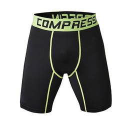 Wholesale Men S Tight Running Shorts - HOT 2016 Outdoor Summer Pro Sports GYM Tight Men Running Fitness Absorb Breathe Quick-drying Short Compression Basketball Shorts