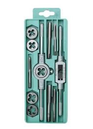 Wholesale Tools For Motorcycle Set - HOT 12 set taps   circular die - car and motorcycle repair tools   repair tools