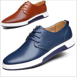 Wholesale Men Korea Shoes - 2016 new men's casual shoes British wind tide male Korea business leather shoes men's shoes AA0662