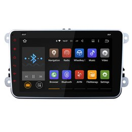 Wholesale Dvd Car Volkswagen - Joyous Quad Core 1024HD 2 Din Android 5.1 Car Radio Audio Car DVD Player GPS Navigation For Volkswagen VW Passat Scirocco Polo (with canbus)