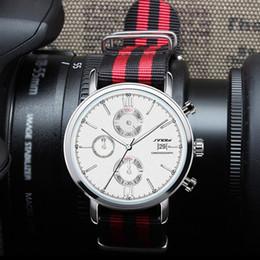 Wholesale Sinobi Male Watch - 2016 SINOBI Mens Sports Watch Famous Brand Nylon Watchband Waterproof Males Geneva Steel Quartz Watches Clock Hombre Box