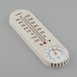 Wholesale Wall Thermometer Free Shipping - Wholesale-Household Thermometer Hygrometer Wall-mounted Temperature Temp Humidity Meter Free Shipping