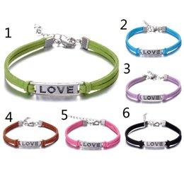 Wholesale Custom Korean Jewelry - Custom-New Simple Colorful Love Rope Bracelet Infinity Love Charm Korean velvet Adjustable Bangles Handmade Bracelet Jewelry-Drop Shipping