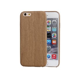 Wholesale Iphone 5s Covers Wood - Brown Vintage Wood Bamboo Pattern Leather PU Cases for iphone 4 5 5s 6 6plus Luxury Slim Back Cover Mobile Phone Protector Accessories
