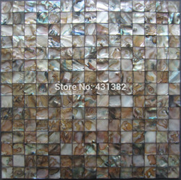 Wholesale Building Wall Tile - Hot sale fashion style 20*20 building material freshwater shell mosaic tile mother of pearl dyed black color indoor mosaics tile