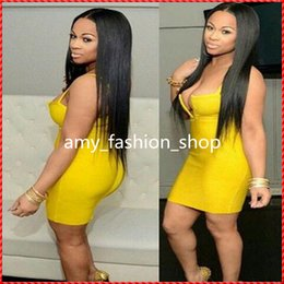 Wholesale Long Hair Images - DHL Free Quality Assurance Real Images 100% Brazilian Remy Human Hair 150% Density Full lace wigs #1b natural Black 20Inch Silk Straight