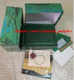 NOUVELLE Haute Qualité Montre De Luxe Mens Watch Box Intérieur Extérieur Womans Montres Boîtes Hommes Montre-Bracelet En Bois Boîte Verte Booklet Card ? partir de fabricateur