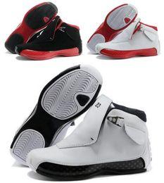 Wholesale Men S Leather Sneakers - Retro 18 Basketball Shoes Men s Retro Real Replicas Man Retro 18s XVIII Hombre Sports Sneakers