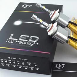 1SET 110W 10600LM CREE светодиодные фары Q7 H1/H3/H4/H7/H8 / H9 / H10 / H11/9005/9006/12 6000K белый автоматическое преобразование автомобилей светодиодные комплект заменить галогенные ксенон от