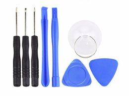 Wholesale Replace Lens - 8 in1 Opening Pry Repair Replace Tool Kit Replacement LCD Front Screen Glass Lens mobile phone for iphone 5 & iphone 6 plus &7 plus