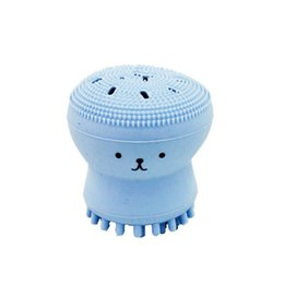 Wholesale Face Wash Blackheads - Hot Wash Brushes Super Little Cute Octopus Face Cleaner Massage Soft Silicone Facial Brush Face Cleansers Blackhead Spot Acne