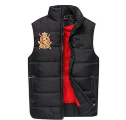 Wholesale European Outerwear - Free send Men's PoLo cotton wool collar hooded down vests sleeveless jackets plus size quilted vests Men PAUL vest vests outerwear,M-XXL