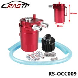 Wholesale Racing Oil Catch Tank - RASTP-Free Shipping Racing Oil Catch Tank Oil Catch can Polished Oil Reservoir Catch Can Tank With Breather Filter LS-OCC009