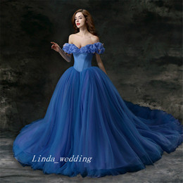 Wholesale Sexy Hunter Costumes - Cinderella Dress Halloween Costume Princess Dress Cinderella Adult women Deluxe Blue Prom Dress Princess Dress Special Occasions Party Gown