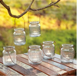 "Wholesale Glass Tea Light Candle Holder - 3.7""H Glass Hanging Candle Holder In Clear Color Usd 57.60 For 12Pcs  Each Usd 4.80"