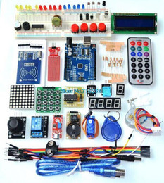 Atacado-UNO R3 KIT versão atualizada do Starter Kit o RFID aprender Suíte LCD 1602 para kit arduino