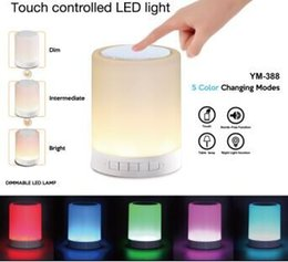 Wholesale Led Center - L7 model Wireless Bluetooth Speaker Hands-free Call Colorful Touch LED Light Lamp With TF Card Music Player Smart Speakers Subwoofer