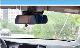 Dvr radar detector retrovisore online-Soluzione DVR per auto All Winner PZ917 Dash Cam 5 pollici HD Touch Screen Intelligente Dual Lens GPS Tracker Rilevatore radar Specchietto retrovisore EMS