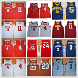 Wholesale Indiana Jersey - Men Indiana Hoosiers Victor Oladipo College 11 Isiah Thomas NASH 23 LaMarcus Aldridge 5 Jason Kidd USC 24 SEALABRINE Basketball Jerseys