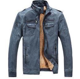Wholesale Genuine Leather Biker Jacket - Motorcycle Jacket Men's Genuine Leather Jacket Cowhide Calf Skin Black Slim Men's Leather Jacket Male Biker Coat