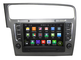 Wholesale Dvd Gps Hd - 1 DIN HD Screen Android 5.1 Quad Core Multi-Touch GPS Car DVD Player for VW Golf 7