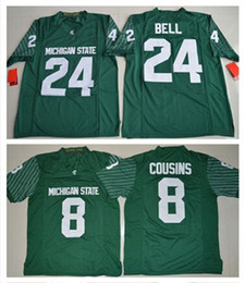Wholesale Michigan State Football Jerseys - Men's College Jersey Michigan State Spartans 8 Kirk Cousins 24 Le'Veon Bell Green Jerseys