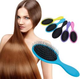 Wholesale Hair Detangler Brush - Wet & Dry Hair Brush Original Detangler Hair Brush Massage Comb With Airbags Combs For Wet Hair Shower Brush