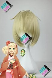 Wholesale Shiemi Moriyama Cosplay Costume - Wholesale-Shiemi Moriyama Wig -Ao No Exorcist Wig Shiemi Moriyama Cosplay Wig Blonde Womens Ao No Exorcist Cosplay Wigs