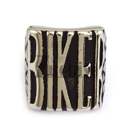 Wholesale Wholesale Jewelry Cast - Cast BIKER Ring for Riders Top Popular Stainless Steel Jewelry Punk Fashion Unique Men's Ring Size8 to 16#