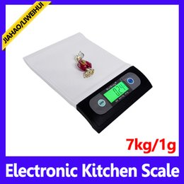 Wholesale Shipping Scale Lbs - wholesale Kitchen Scale 7kg 1g Digital Food Diet Postal Weight Balance g lb oz with Backlight 50PCS LOT free shipping