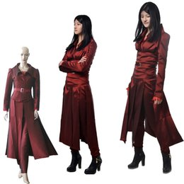 Wholesale Skintight Dress - 2016 HOT Exclusive Movie X-Men Phoenix Cosplay Costume Customized Women's Dress Halloween Per Le Donne Adulte Sexy Skintight