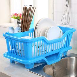 Wholesale Kitchen Dish Drainer - Portable Tableware Storage Great Kitchen Sink Dish Drainer Drying Rack Washing Holder Basket Organizer Tray Colanders Strainers