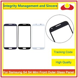 Wholesale Galaxy S4 S Iv - High Quality For Samsung Galaxy S4 S IV i9500 i9505 And S4 Mini i9190 i9195 i9192 Front Outer Glass Lens Touch Screen Panel