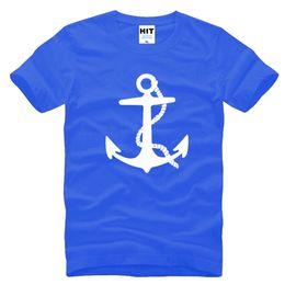 Wholesale Anchor L - WISHCART Anchor Popular Fashion Cool Printed Mens Men T Shirt Tshirt 2016 New Short Sleeve O Neck Cotton T-shirt Tee Camisetas Hombre
