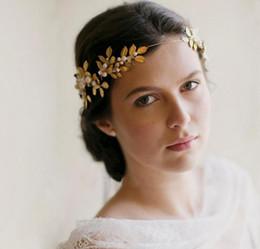 Wholesale Bridal Accessories Suppliers - Vintage Wedding Bridal Bridesmaid Gold Flower Baroque Hair Accessories Headpieces Jewelry Crown Tiara Headband Queen Princess Hair Suppliers