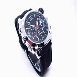 Wholesale Spy Watch Compass - Metail Watchband voice recording watch camera High Quality Waterproof HD 1080P Spy Hidden camera 8GB 16GB Mini Video DVR with Compass