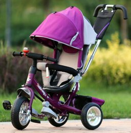 Wholesale Tricycle Stroller Bike - Wholesale- Brand New style Baby child kids tricycle trolley baby stroller carriage bike bicycle 6 monthes-6 years old ride on car toys