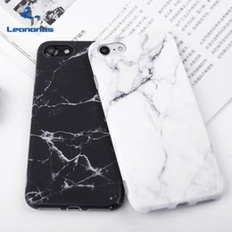 Wholesale Iphone Cover Silicone Gel - Fashion IMD Silicone Marble Phone Cases For iPhone 8 7 6 6S Plus Ultrathin Matte Soft TPU Gel Case Protector Covers Shell