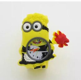 Wholesale Despicable Watches - 3D Eye Despicable Me slap watch minion Precious Children Watches Slap Snap On Silicone Quartz Wrist Watch