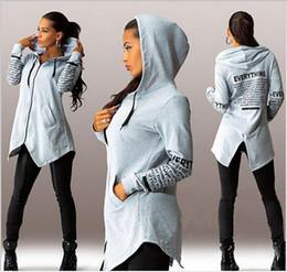 Wholesale Sleeveless Hoodie Women - Autumn graffiti letters printed sweater explosion models big yards Zip Hoodie