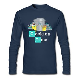 Wholesale Cook T Shirts - Interesting men's T-shirt factory cartoon printed funny design clothing for man fine cotton tees street style Cooking Time