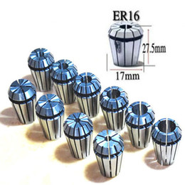 Wholesale Silver Chrome Carbon - Good ER16 10Pcs Spring Collet Set CNC Milling Lathe Tool Engraving Machine B00228 BARD