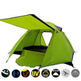 Wholesale Two Person Canvas Tent - Ultralight 2 Person Tent Waterproof Fiberglass Pole Double Layer Camping Tent 4 Season 2 Person Beach Tents Tourism Naturehike Quality