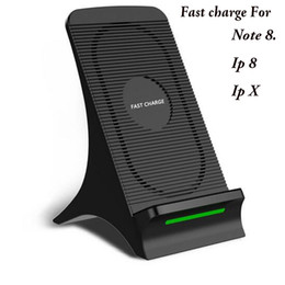 Wholesale Qi 5v - A+ quality QI Wireless Charger For ipone x Samsung S8 Plus note 8 Phone Wireless Charger Fast Charging 5V 2A 9v 1.67A