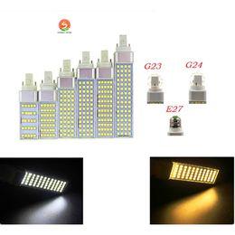 bulbe de maïs g24 Promotion SMD 5050 prise horizontale lumières E27 G24 G23 led ampoule de maïs 180 degrés AC85-265V 5W 7W 9W 11W 13W éclairage intérieur Lampe d'intérieur